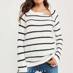 EUC Abercrombie Pullover Zipper Crew Sweater